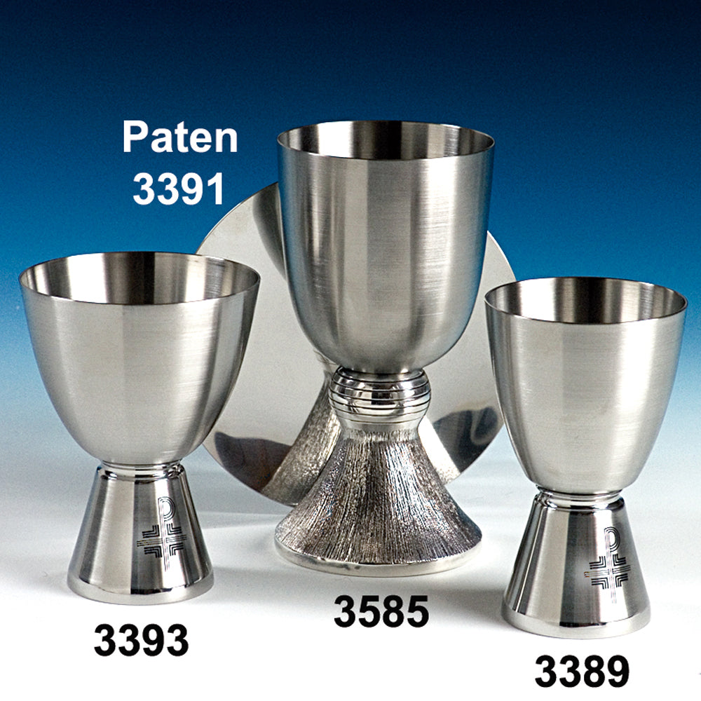 Stainless Steel Chalices and Paten