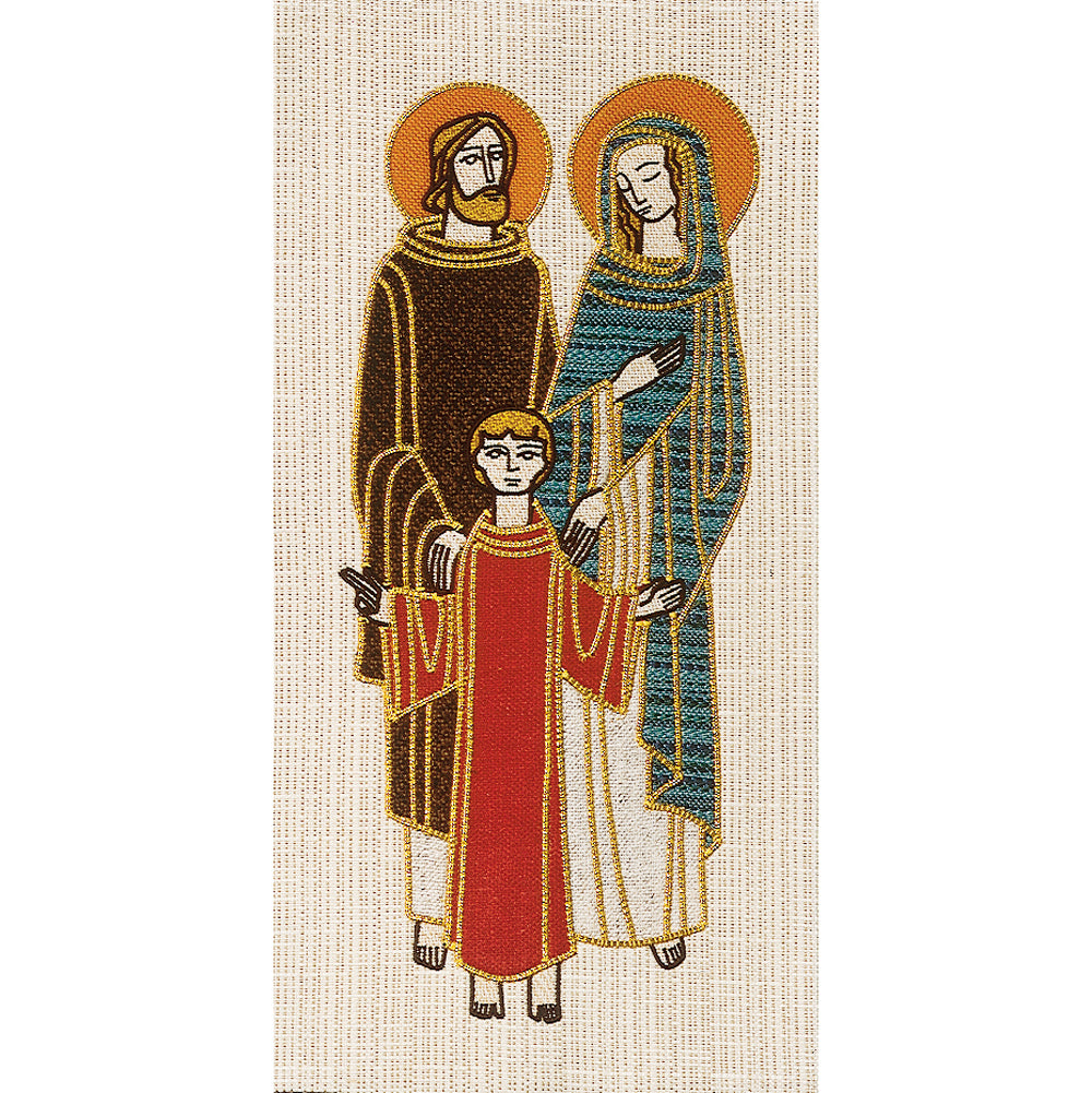 'Holy Family' Embroidered Banner