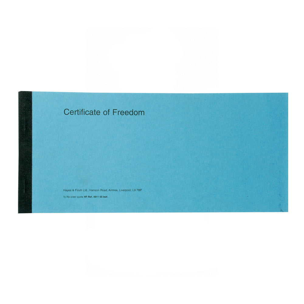 Certificate Book - Notification of Freedom