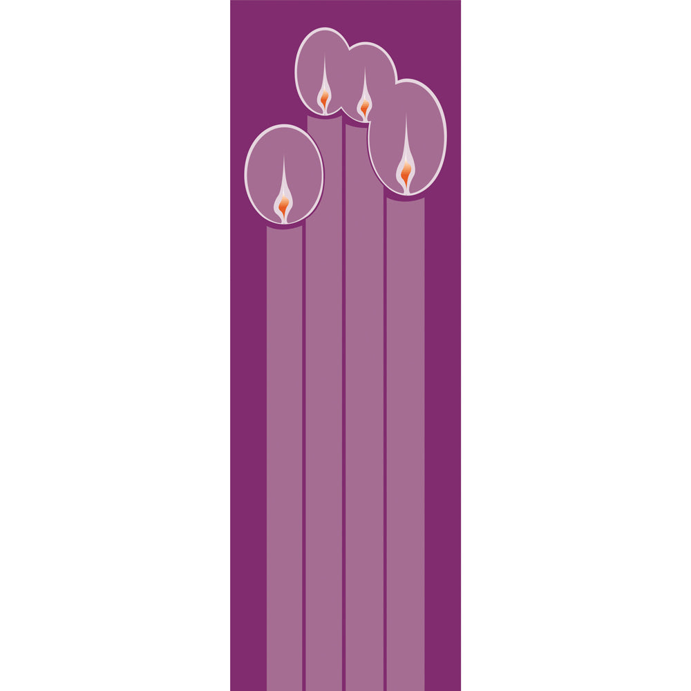 Large Inside Banner - Advent, Candles