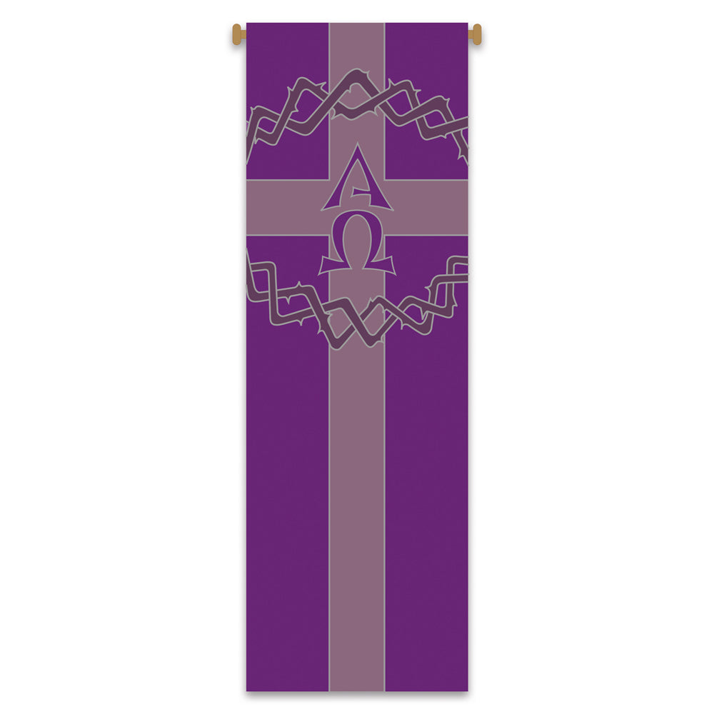 Large Inside Banner - Crown of Thorns with Alpha Omega