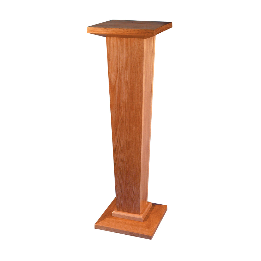 Tapered Oak Pedestal