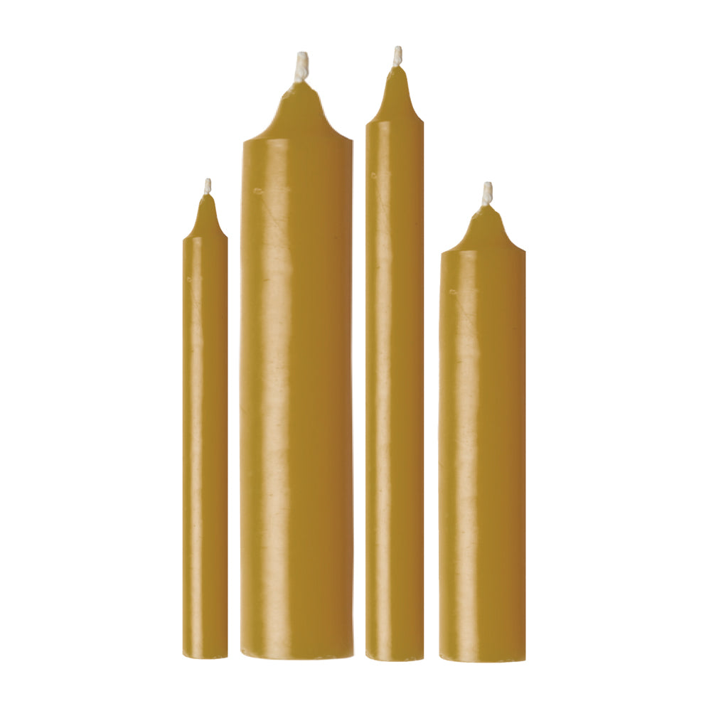 Unbleached Beeswax Altar Candles
