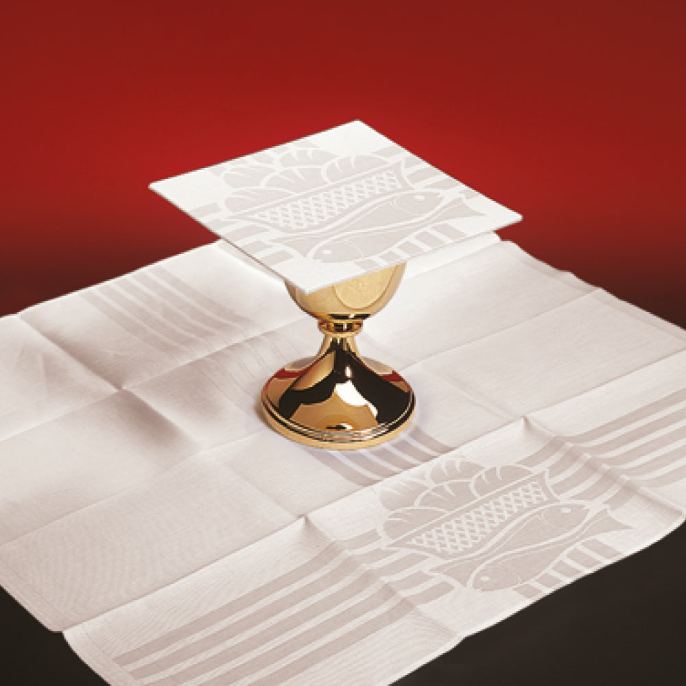 Small Linens with Woven Eucharistic Motifs