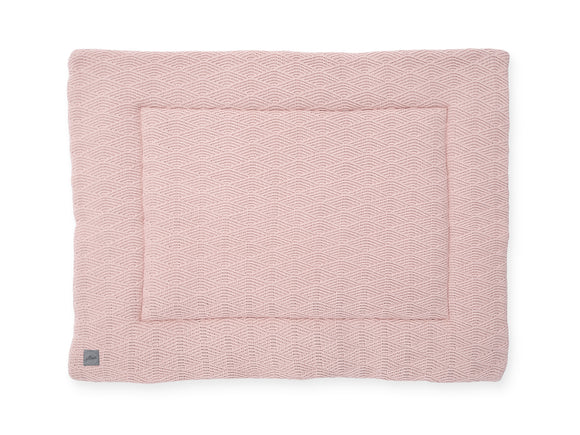 Boxkleed River knit pale pink 80x100cm