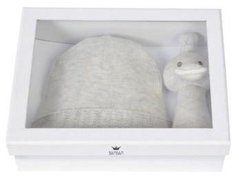 Giftbox Knitted Hat and Rattle