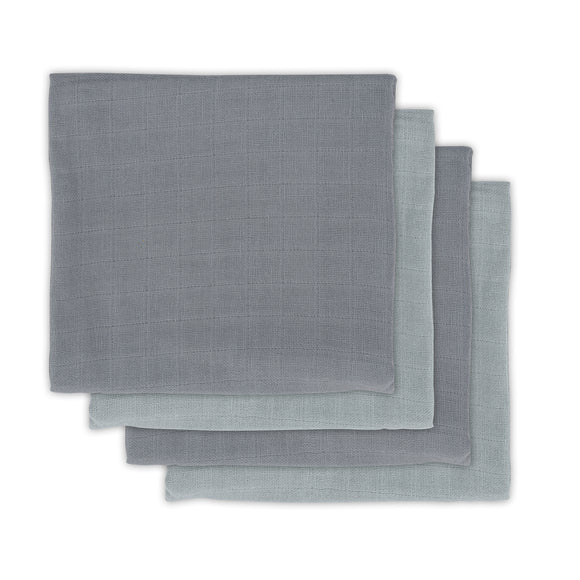 Bamboe multidoek Storm Grey 70X70 cm Small (4pack)