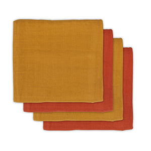 Bamboe multidoek Mustard rust Small 70X70 (4pack)