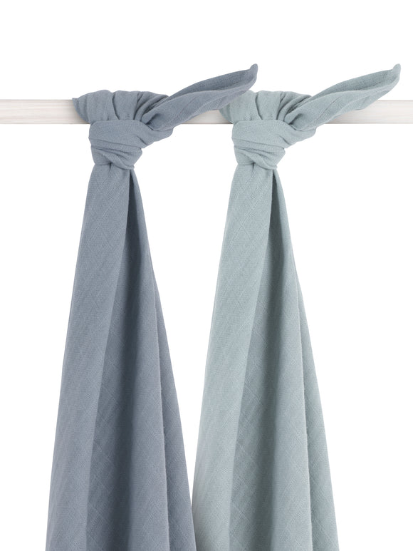 Bamboe multidoek Storm grey 115X115 Large (2pack)