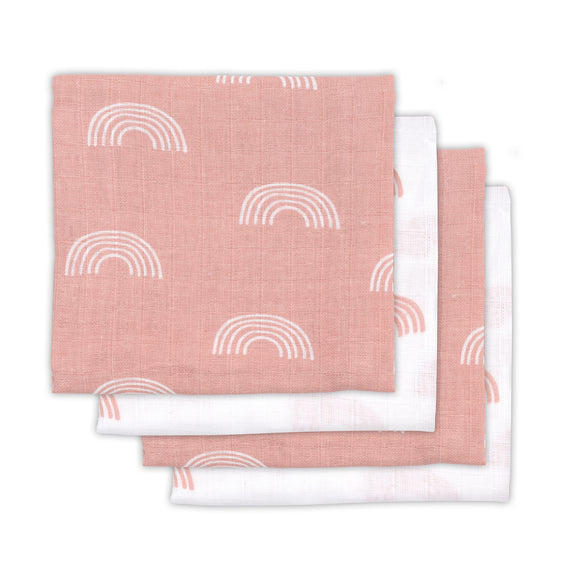 Hydrofiele Multidoek Rainbow blush pink 70x70cm (small) 4pack