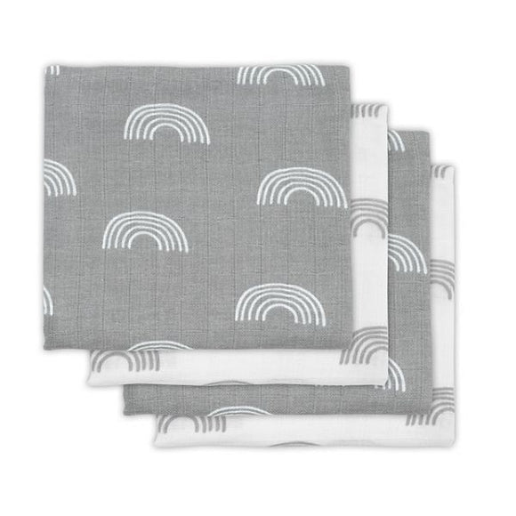 Hydrofiele multidoek small 70x70cm Rainbow grey (4pack)
