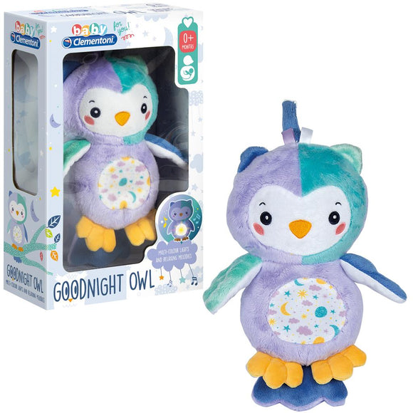 Clementoni baby knuffel goodnight owl