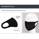 Washable microfiber polyester KN95 Face mask with Earloop (Black) - FruGear