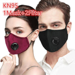 NEW STOCK! Slimstrapped Washable N95 Face mask with activated PM2.5 carbon filter, breathing valve and 2 (two) filters included - FruGear