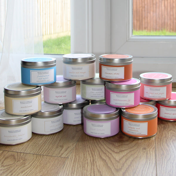 Candle Scents - Candles in Tins by Northumbrian Candleworks