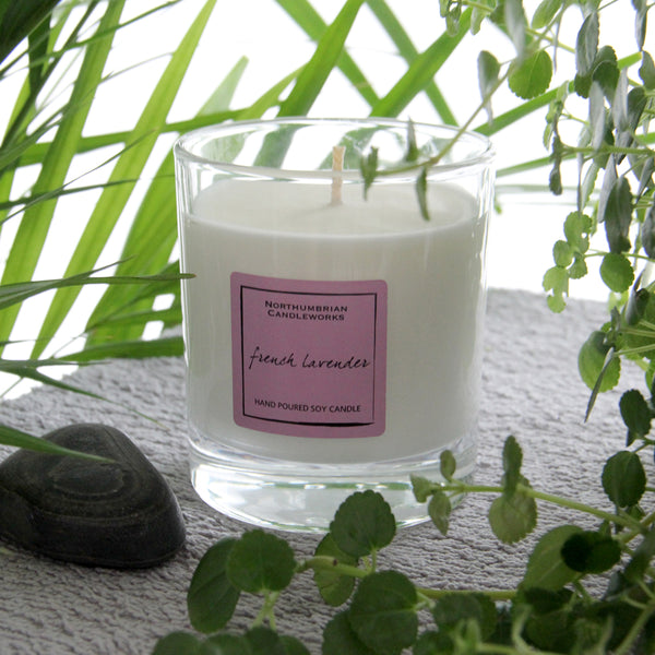French Lavender Candle in a Glass Jar