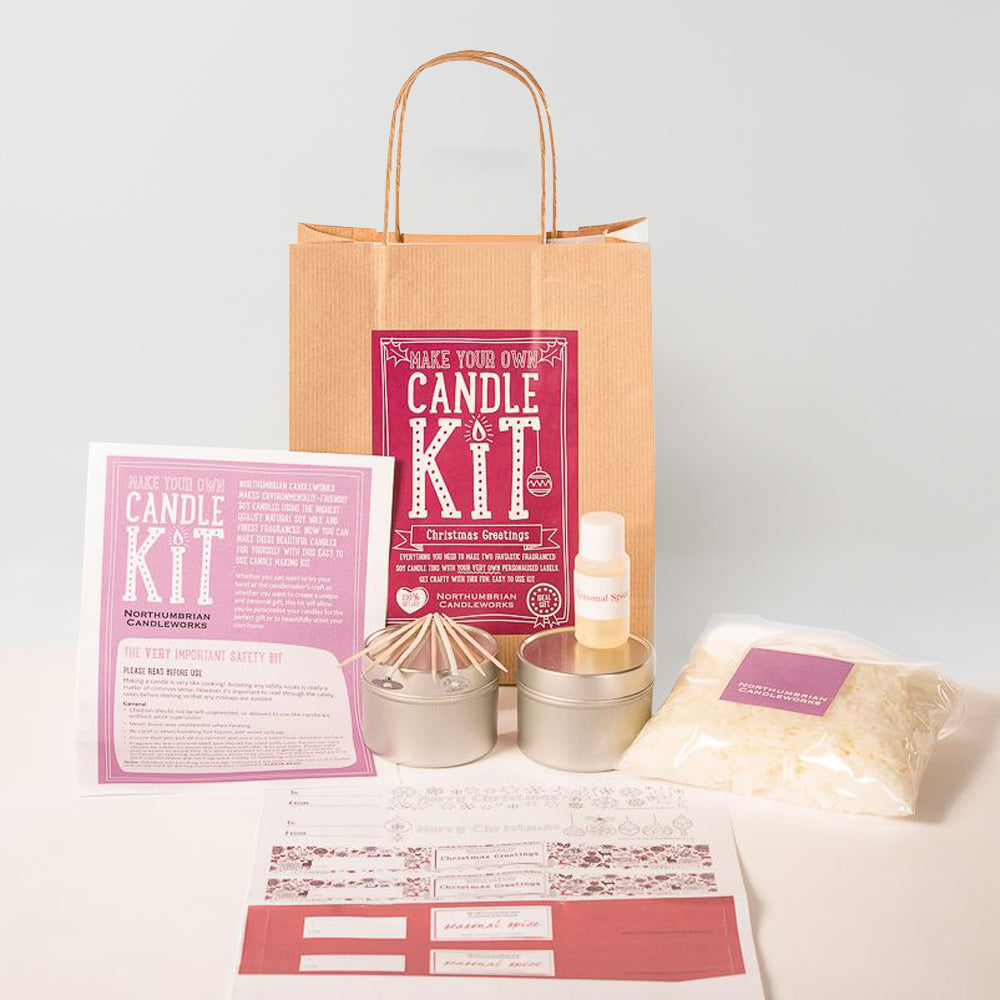 Northumbrian Candleworks - Christmas Greetings Seasonal Spice - Candle Making Kit