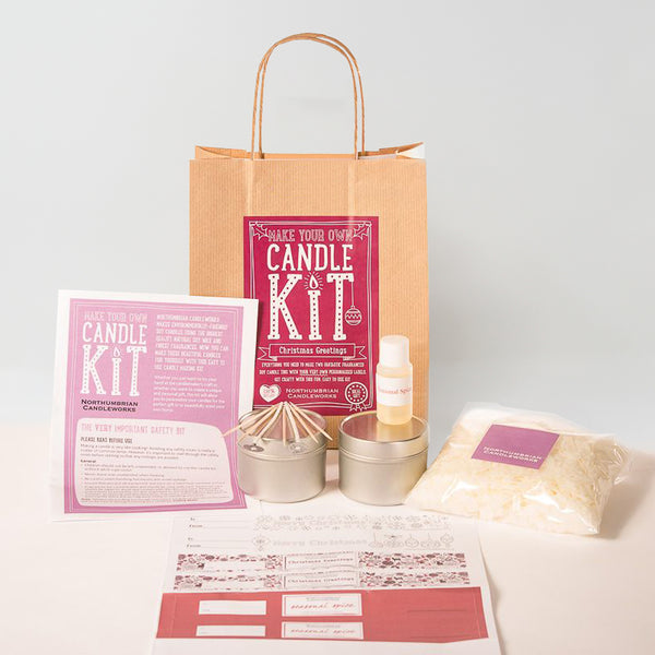 Northumbrian Candleworks - Christmas Greetings Seasonal Spice - Candle Making Kits