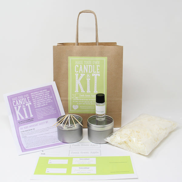 Northumbrian Candleworks - Fresh Green Apple - Candle Making Kits