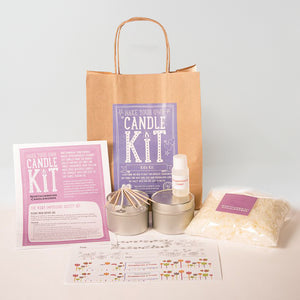 Northumbrian Candleworks - Kid's Kit Strawberries & Cream - Candle Making Kit