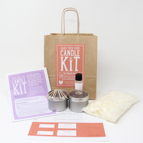 Northumbrian Candleworks - Red Poppy & Ginger - Candle Making Kits