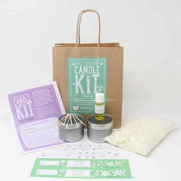 Northumbrian Candleworks - Thank You Vanilla & Orange - Candle Making Kits