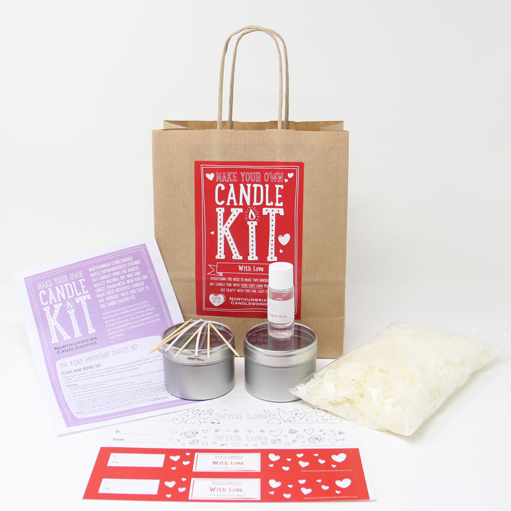 Northumbrian Candleworks - With Love English Rose - Candle Making Kits