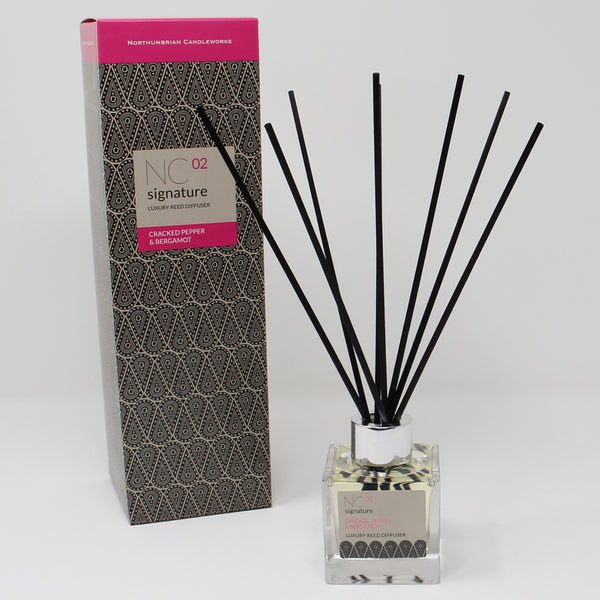 Northumbrian Candleworks - Cracked Pepper & Bergamot - Reed Diffuser with Box