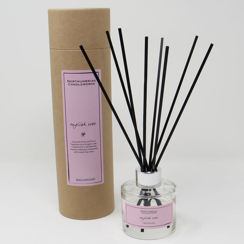 Northumbrian Candleworks - English Rose - Reed Diffuser with Tube