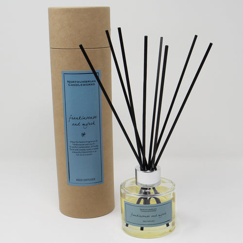 Northumbrian Candleworks - Frankincense & Myrrh - Reed Diffuser with Tube