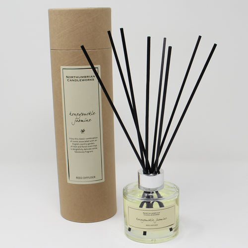 Northumbrian Candleworks - Honeysuckle Jasmine - Reed Diffuser with Tube