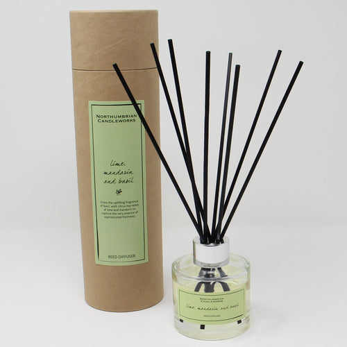Northumbrian Candleworks - Lime Mandarin & Basil - Reed Diffuser with Tube