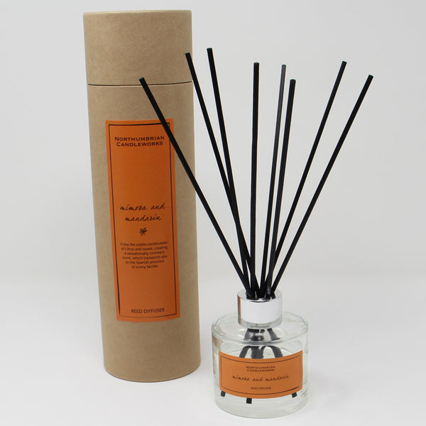 Northumbrian Candleworks - Mimosa & Mandarin - Reed Diffuser with Tube