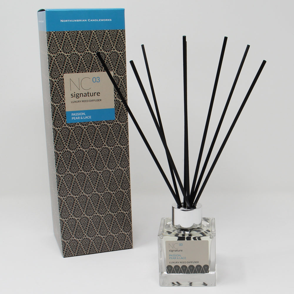Northumbrian Candleworks - Passion Pear & Lace - Reed Diffuser with Box