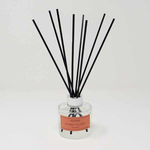 Northumbrian Candleworks - Red Poppy & Ginger - Reed Diffuser