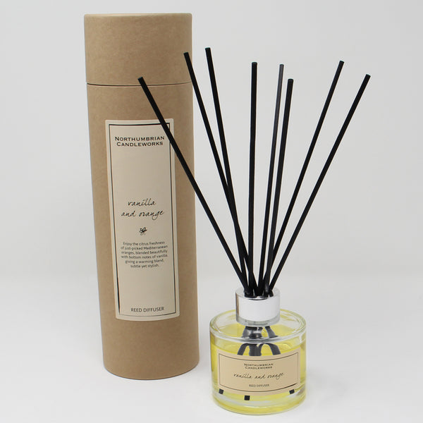Northumbrian Candleworks - Vanilla & Orange - Reed Diffuser with Tube