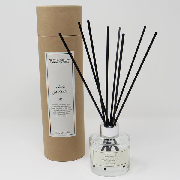 Northumbrian Candleworks - White Gardenia - Reed Diffuser with Tube