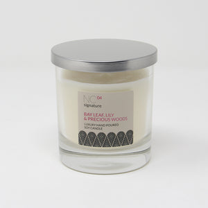 Northumbrian Candleworks - Bay Leaf Lily & Precious Woods - Candle in a Glass Jar with Lid