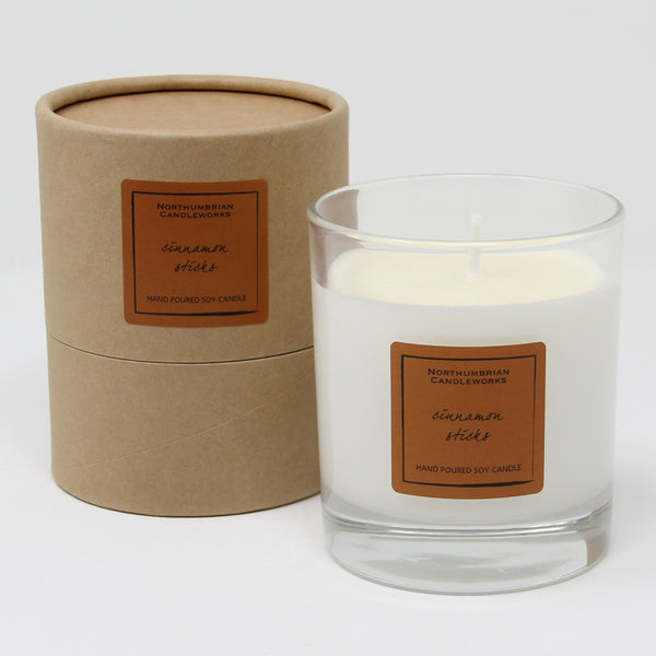 Northumbrian Candleworks - Cinnamon Sticks - Candle in a Glass Jar with Tube