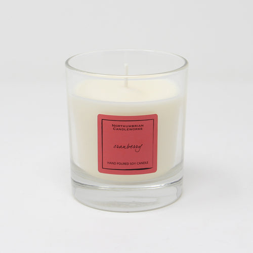Northumbrian Candleworks - Cranberry - Candle in a Glass Jar