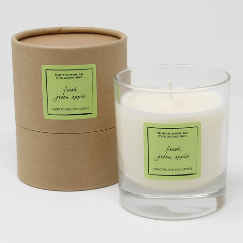Northumbrian Candleworks - Fresh Green Apple - Candle in a Glass Jar with Tube