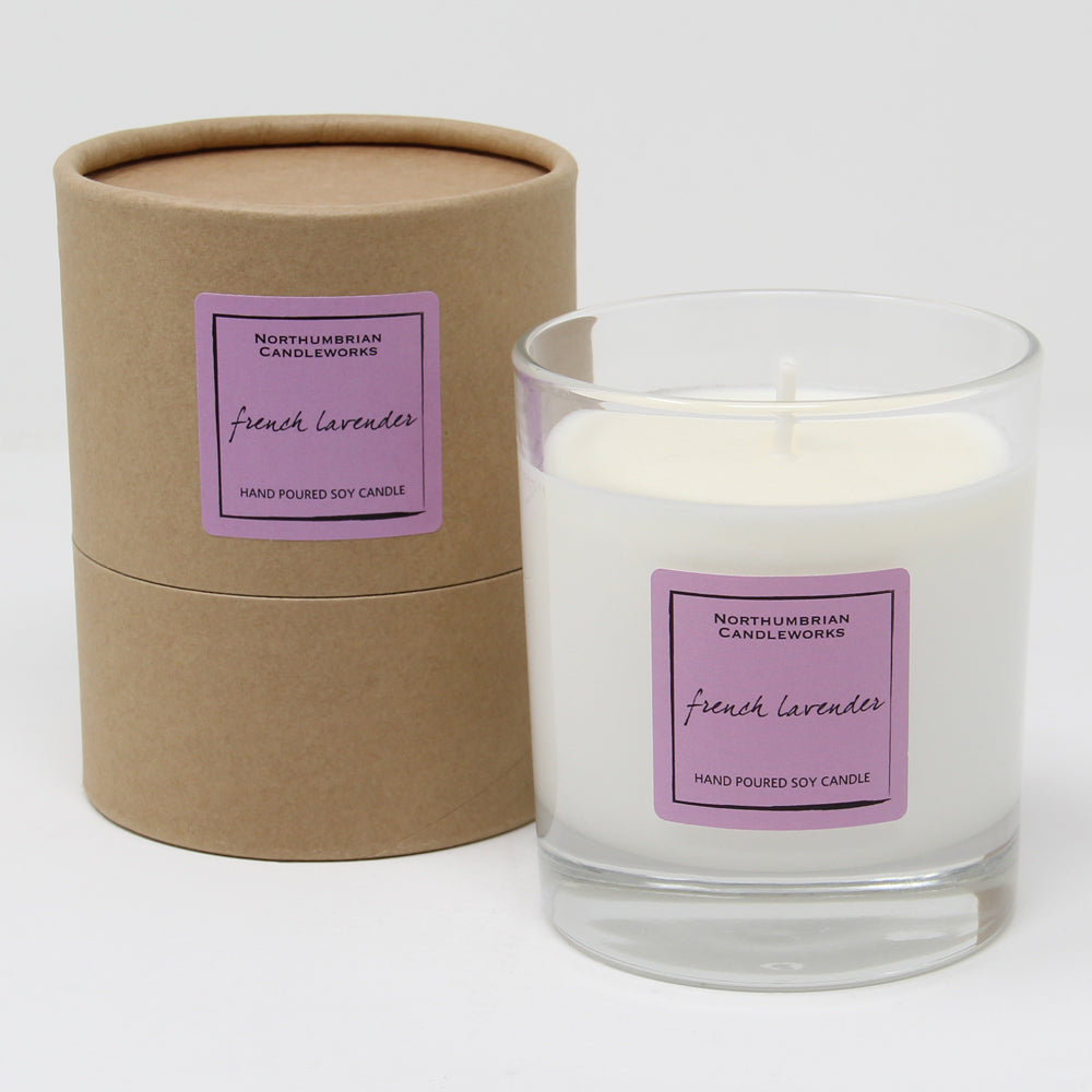 Northumbrian Candleworks - French Lavender - Candle in a Glass Jar with Tube