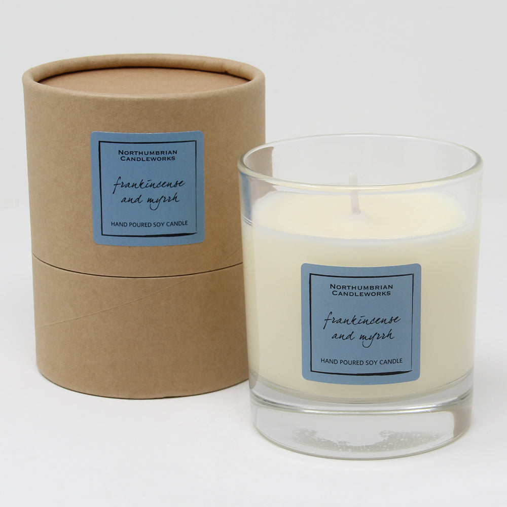 Northumbrian Candleworks - Frankincense & Myrrh - Candle in a Glass Jar with Tube
