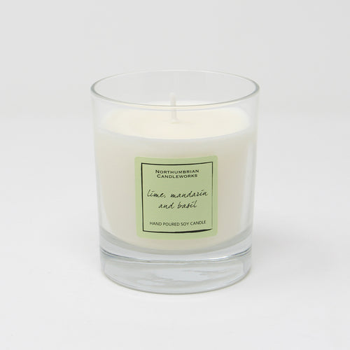 Northumbrian Candleworks - Lime Mandarin & Basil - Candle in a Glass Jar