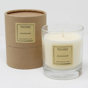 Northumbrian Candleworks - Sandalwood - Candle in a Glass Jar with Tube