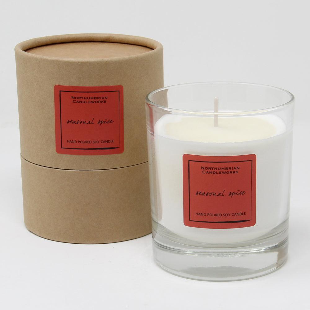 Northumbrian Candleworks - Seasonal Spice - Candle in a Glass Jar with Tube