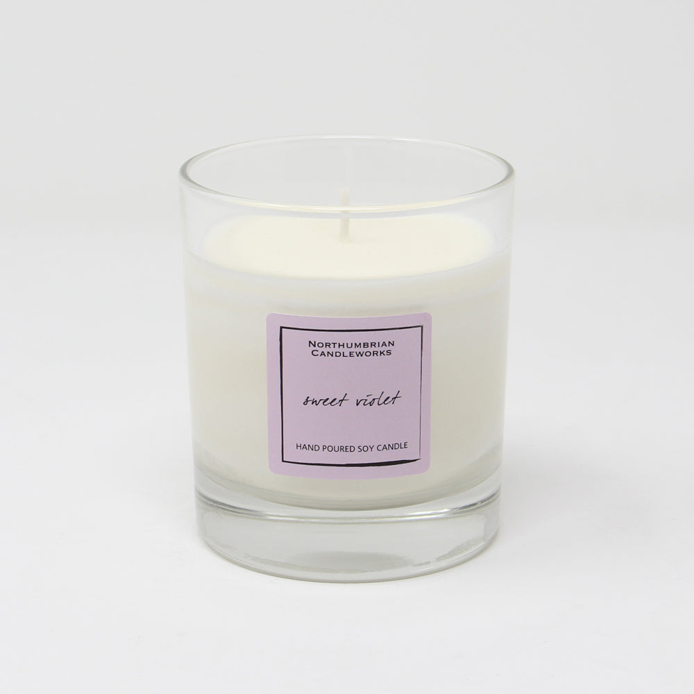 Northumbrian Candleworks - Sweet Violet - Candle in a Glass Jar