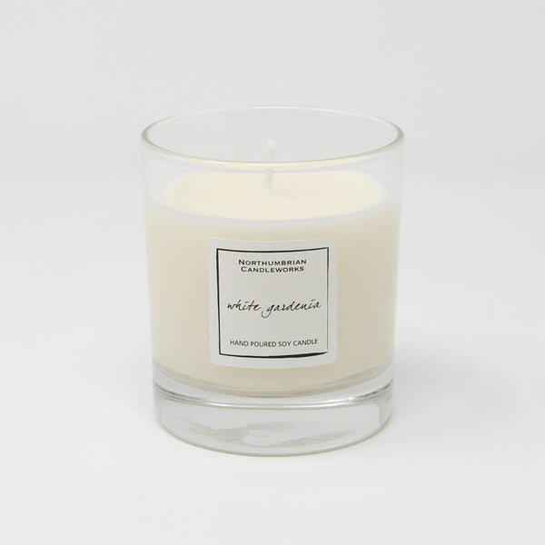 Northumbrian Candleworks - White Gardenia - Candle in a Glass Jar