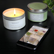 Load image into Gallery viewer, Lime, Mandarin & Basil Candle in a Tin