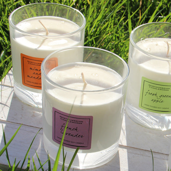 Soy Candles for Home - Soy Wax Candles in Glass Jars by Northumbrian Candleworks
